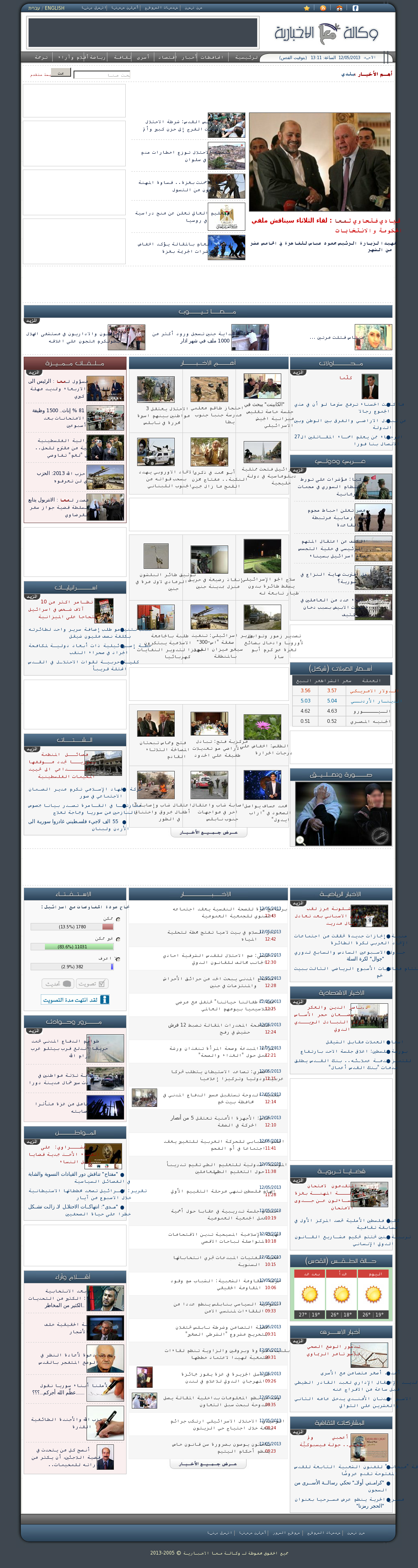 Ma'an News at Sunday May 12, 2013, 10:11 a.m. UTC