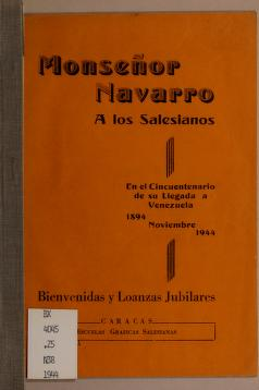 Monsen or Navarro a los salesianos by Nicola s E. Navarro